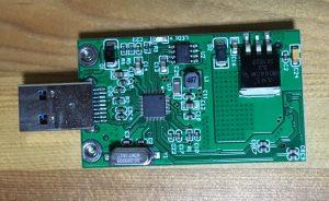 Hodays mSATA SSD → USB3.0 変換アダプター 裏側