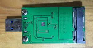 Hodays mSATA SSD → USB3.0 変換アダプター 表側